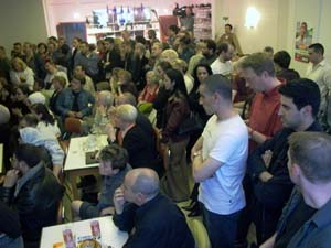 Overcrowded room...